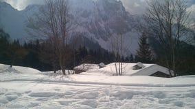 Neige de montagne Photographie stock
