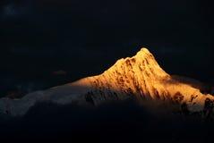 neige de montagne de meili Photographie stock