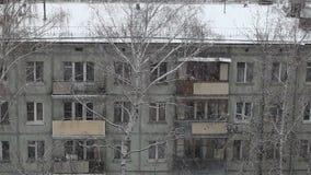 Neige de Moscou, hiver, Russie, foncée banque de vidéos