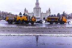 Neige de nettoyage de Mashine des rues Photographie stock libre de droits