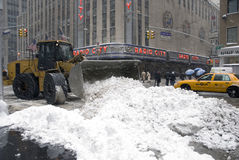 Neige de New York City photo stock