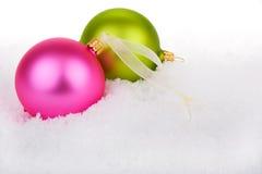 neige de Noël de babioles Image stock