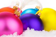 neige de Noël de babioles Images stock