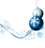 neige de Noël d'ampoules Photos stock