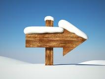 neige de pointe de flèche illustration stock