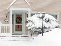 neige de porche Image libre de droits