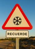 Neige de poteau de signalisation Image libre de droits