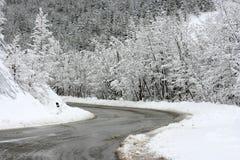 neige de route Photographie stock