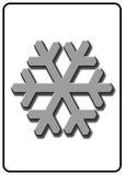 neige de signe Photographie stock libre de droits