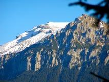 Neige de vue de crête de montagne Photographie stock libre de droits
