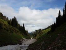 Neige des avalanches en gorge photographie stock