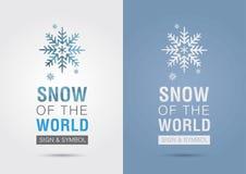 Neige du monde Icône de graphique d'infos d'Eco Vente créative Photo libre de droits