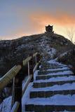 Neige du nord d'hiver Images libres de droits