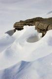 Neige empilée Photos libres de droits