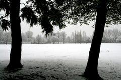 Neige en avril Photo stock