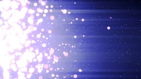 Neige en baisse avec des étincelles de cercle de Noël de lumière de bokeh clips vidéos