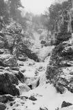 neige en baisse de montagne Images stock