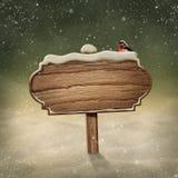 Neige en bois de connexion illustration libre de droits
