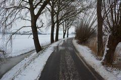 Neige en février Photo stock