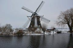 Neige en février Photo libre de droits