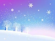 Neige en hiver Image libre de droits
