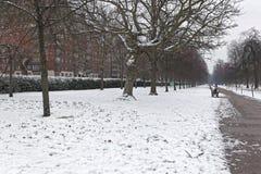 Neige en Hyde Park Image libre de droits