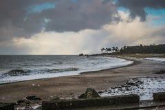 Neige en mer Photos libres de droits