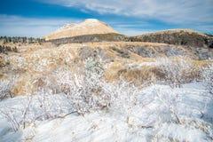 Neige en mont Aso images libres de droits