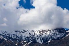 neige et nuages Photographie stock libre de droits
