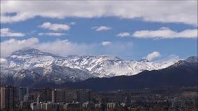 Neige et paysage n Chili de montagne banque de vidéos