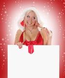 Neige et Santa Photo stock