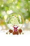 Neige et Santa Claus de Noël Photo stock