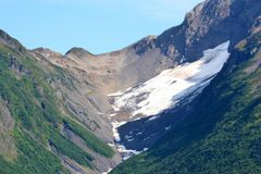 Neige et vallée Image libre de droits