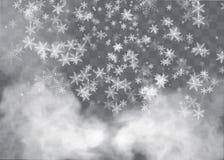 Neige et vent sur un fond transparent Élément décoratif de gradient blanc Illustration de vecteur hiver et neige avec le brouilla illustration libre de droits