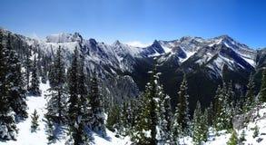 neige fraîche de montagnes Photo libre de droits