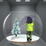 neige impeccable d'enfant Photographie stock