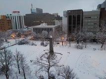 Neige pendant le matin chez Supporo Hokkaido photo libre de droits