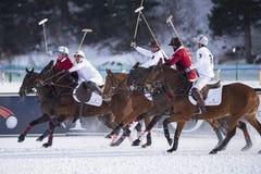Neige Polo World Cup Sankt Moritz 2016 Image libre de droits