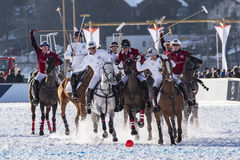 Neige Polo World Cup Sankt Moritz 2016 Photographie stock