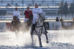 Neige Polo World Cup Sankt Moritz 2016 Images stock