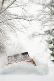 neige profonde de poussée Photo libre de droits