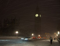 neige rare de grande tempête de neige de ben Photo stock