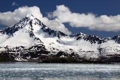 neige recouverte de stationnement national de montagnes de kenai de fjords photographie stock libre de droits