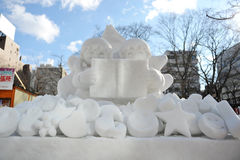 Neige Sulpture Photos stock