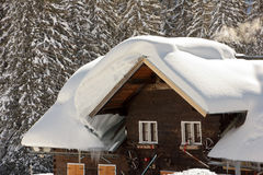 Neige sur des toits   Images libres de droits