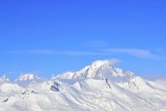 Neige sur la montagne Images libres de droits