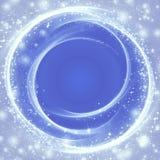 Neige sur le fond bleu Image stock