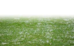 Neige sur le lancement du football photos stock