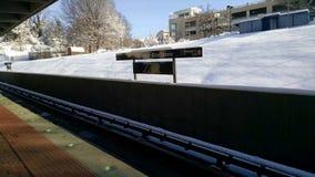 Neige sur le troisième rail Image stock