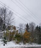 Neige tôt d'automne Photos libres de droits
